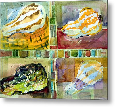 Four Gourds Metal Print by Mindy Newman