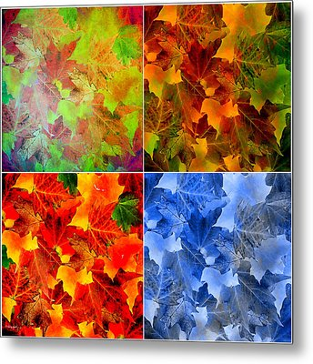 Four Seasons In Abstract Metal Print by Lourry Legarde