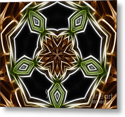 Fractal Kaleidoscope Metal Print by Cheryl Young