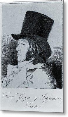Francisco Goya 1746-1828, Self Portrait Metal Print by Everett