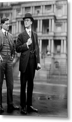 Franklin Delano Roosevelt As A Young Man - C 1913 Metal Print by International  Images