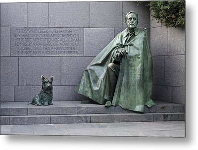 Franklin Delano Roosevelt Memorial - Washington Dc Metal Print by Brendan Reals