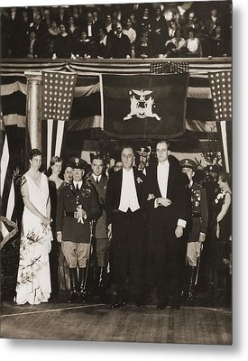 Franklin Roosevelt Inaugurated Metal Print by Everett