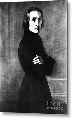 Franz Liszt, Hungarian Composer Metal Print by Omikron