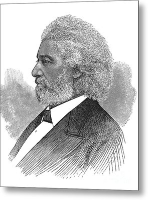 Frederick Douglass (c1817-1895). American Abolitionist. Wood Engraving, American, 1877 Metal Print by Granger