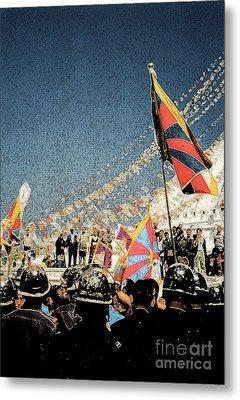 Free Tibet By Jrr Metal Print by First Star Art