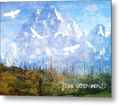 Free Your Mind Metal Print by Tia Helen