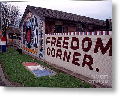Freedom Corner Mural Metal Print by Thomas R Fletcher