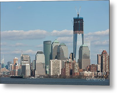 Freedom Tower And Manhattan Skyline II Metal Print by Clarence Holmes