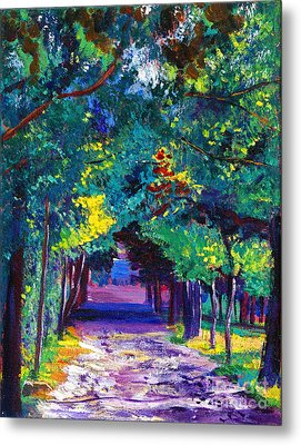 French Country Road Metal Print by David Lloyd Glover