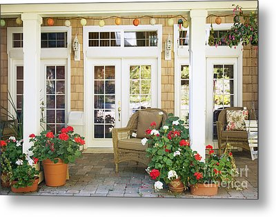French Doors And Patio Metal Print by Andersen Ross