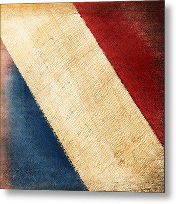 French Flag Metal Print by Setsiri Silapasuwanchai