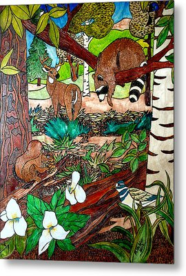 Frends Of The Forest Metal Print by Mike Holder