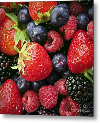 Fresh Berries Metal Print by Elena Elisseeva