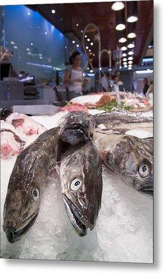 Fresh Fish On The Market Metal Print by Matthias Hauser