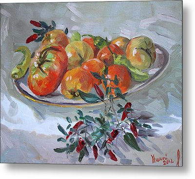 Fresh From The Garden Metal Print by Ylli Haruni