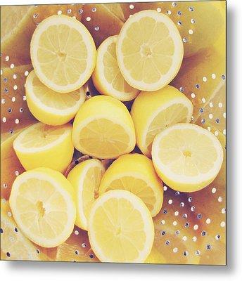 Fresh Lemons Metal Print by Amy Tyler