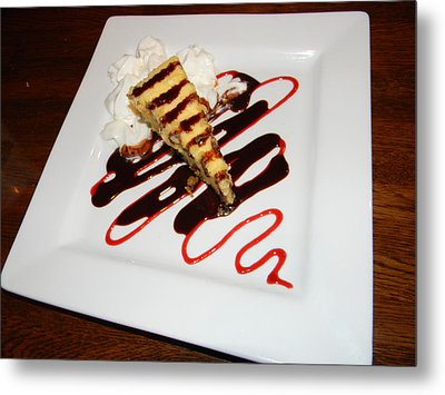 Fried Cheesecake Desert Metal Print by Warren Thompson