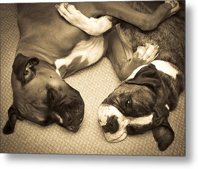Friendship Embrace Metal Print by DigiArt Diaries by Vicky B Fuller