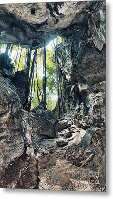 From The Cave Metal Print by MotHaiBaPhoto Prints