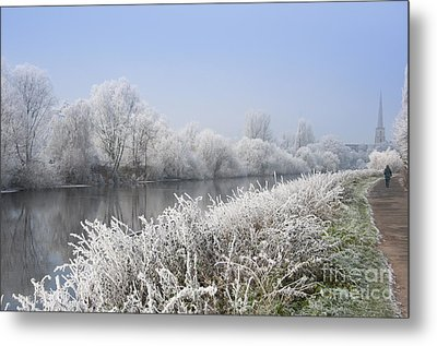 Frosty Morning Landscape Metal Print by Andrew  Michael
