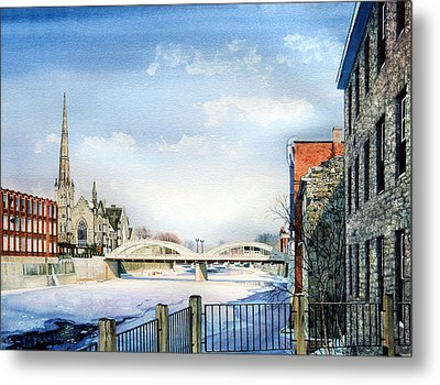 Frozen Shadows On The Grand Metal Print by Hanne Lore Koehler