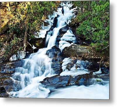 Frozen Waterfall Metal Print by Susan Leggett
