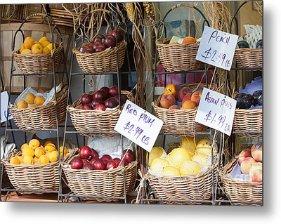 Fruit For Sale Metal Print by Clarence Holmes