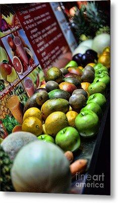 Fruit Stand Metal Print by Paul Ward