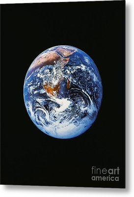 Full Earth From Space Metal Print by Stocktrek Images