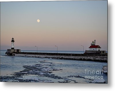 Full Moon Ice Metal Print by Whispering Feather Gallery