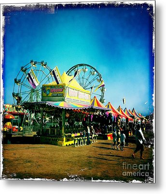 Fun At The Fair Metal Print by Nina Prommer