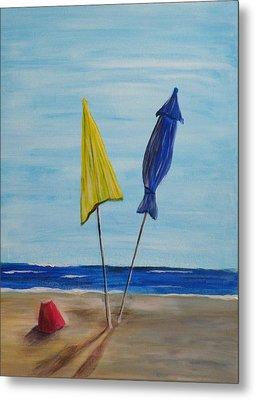 Funbrellas Plus One Metal Print by Wayne Miller
