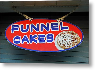Funnel Cakes Metal Print by Skip Willits