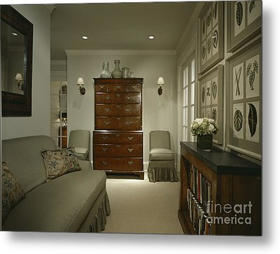 Furniture In Upscale Home Metal Print by Robert Pisano