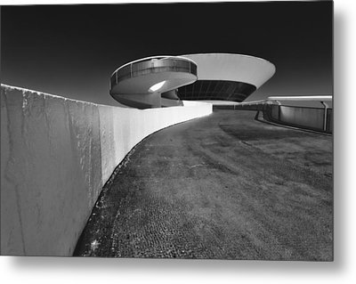 Futuristic Shapes Metal Print by George Oze
