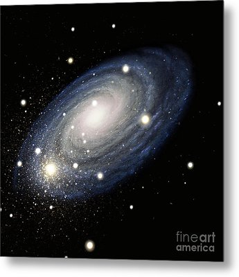 Galaxy Metal Print by Atlas Photo Bank and Photo Researchers