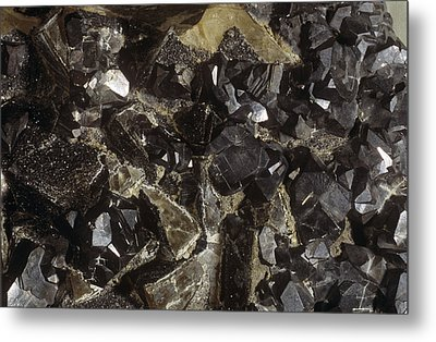 Galenite And Fluorite Minerals Metal Print by Dirk Wiersma