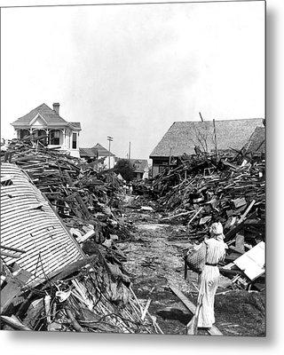 Galveston Flood Debris - September - 1900 Metal Print by International  Images