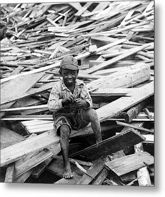 Galveston Flood Survivor - September - 1900 Metal Print by International  Images