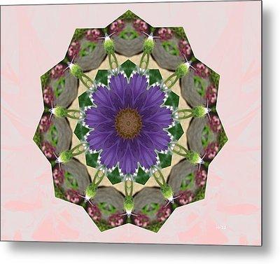 Garden Mandala... Metal Print by Rene Crystal