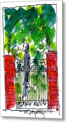 Garden Philadelphia Metal Print by Marilyn MacGregor