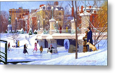 Garden Skaters Metal Print by Candace Lovely