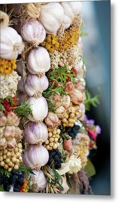 Garlic On Ecological Market Metal Print by Maciej Frolow