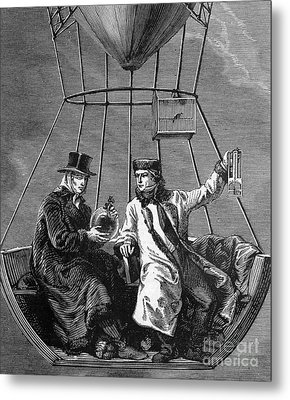 Gay-lussac And Jean-baptiste Biot, 1804 Metal Print by Science Source
