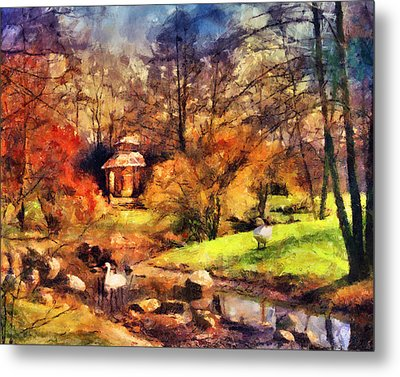 Gazebo In The Park Metal Print by Jai Johnson