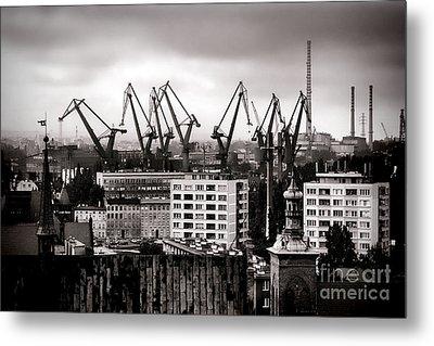 Gdansk Shipyard Metal Print by Olivier Le Queinec