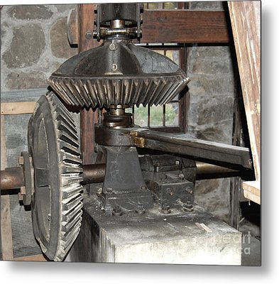 Gears Of The Old Grist Mill Metal Print by John Small