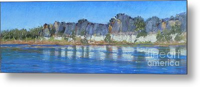 Geikie Gorge Metal Print by Nadine Kelly