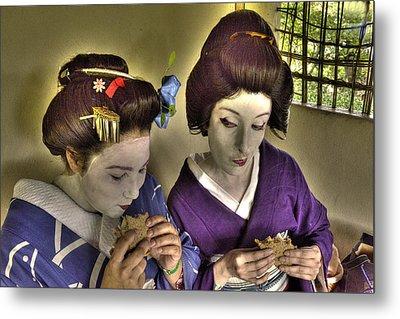 Geisha Lunch Metal Print by William Fields